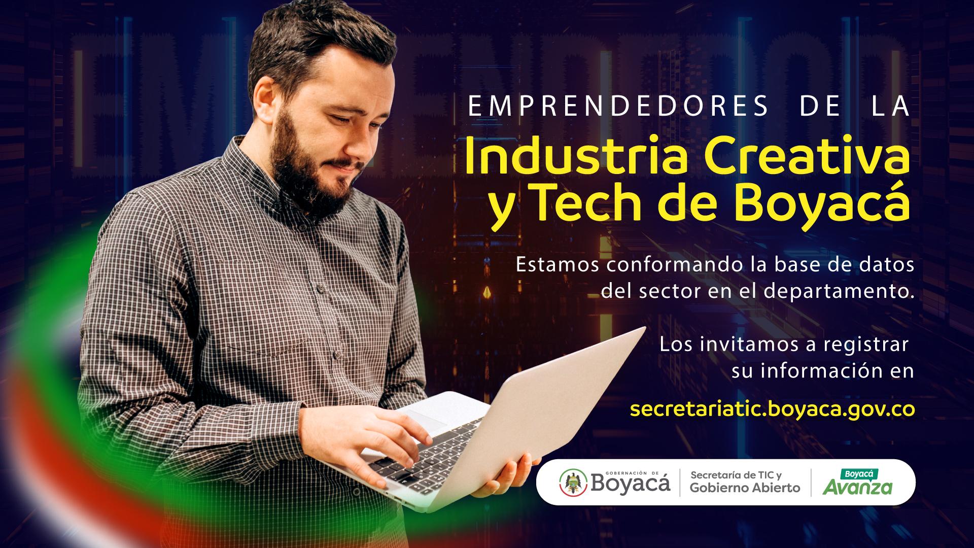 Invitamos a los emprendedores de la industria creativa y tech a registrar su información.